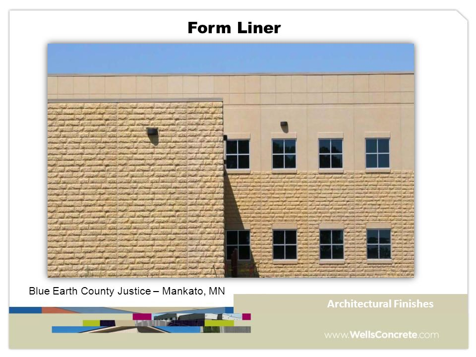 Blue Earth County Justice – Mankato, MN Form Liner Architectural Finishes