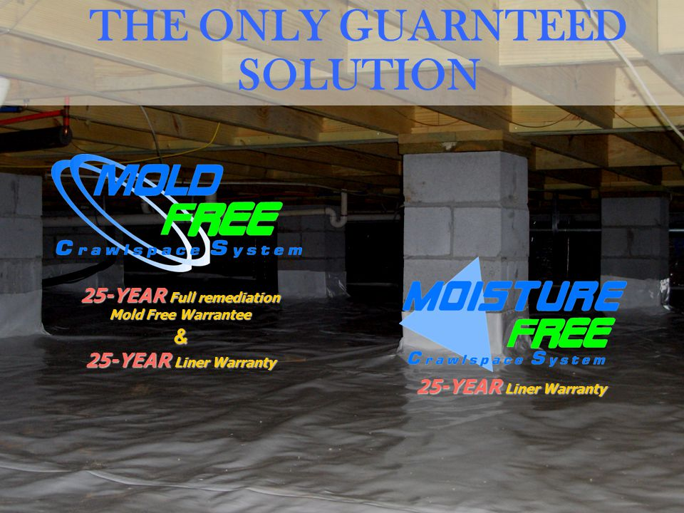 25-YEAR Full remediation Mold Free Warrantee & 25-YEAR Liner Warranty THE ONLY GUARNTEED SOLUTION