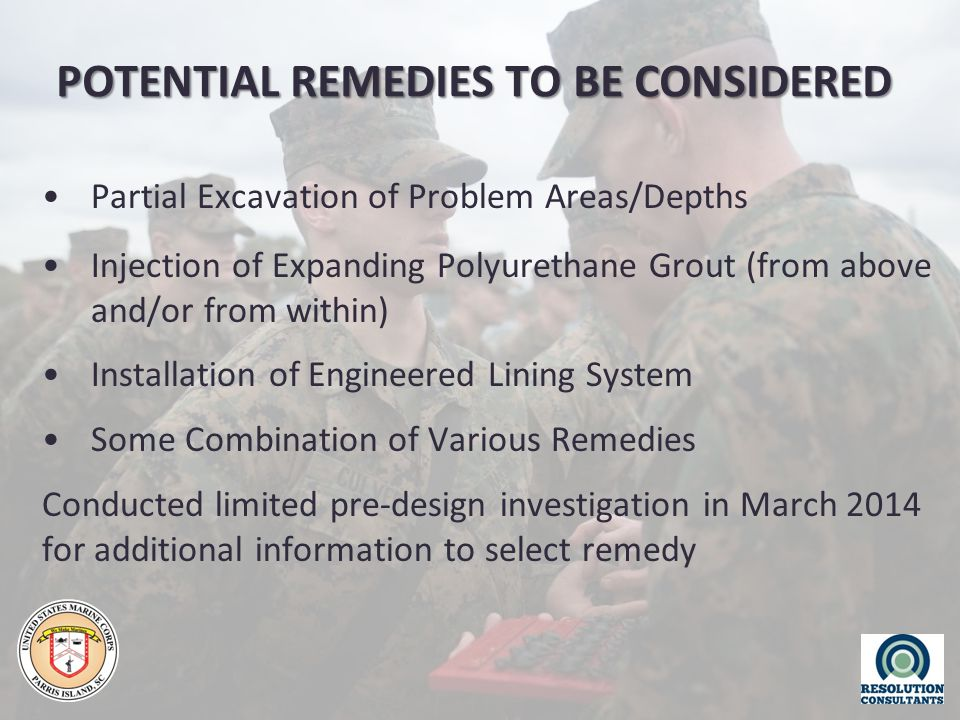 POTENTIAL REMEDIES TO BE CONSIDERED Partial Excavation of Problem Areas/Depths Injection of Expanding Polyurethane Grout (from above and/or from withi