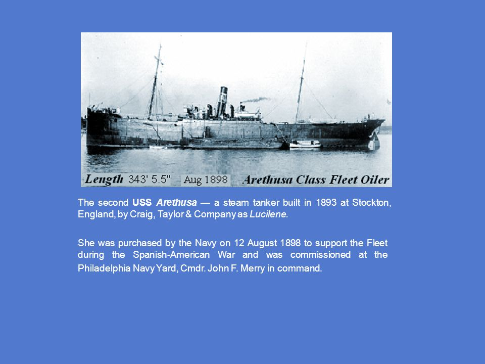 WORLD WAR I - ERA Arethusa Class - August 1898 Kanawha Class - December 1913 Maumee Class - July 1914 Sara Thompson Class - August 1918 Victoria Class - August 1918 Robert L.