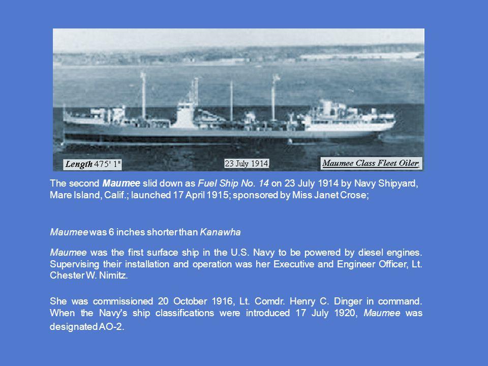 She was commissioned 5 June 1915, Lt.Comdr. Richard Werner, USNRF, in command.