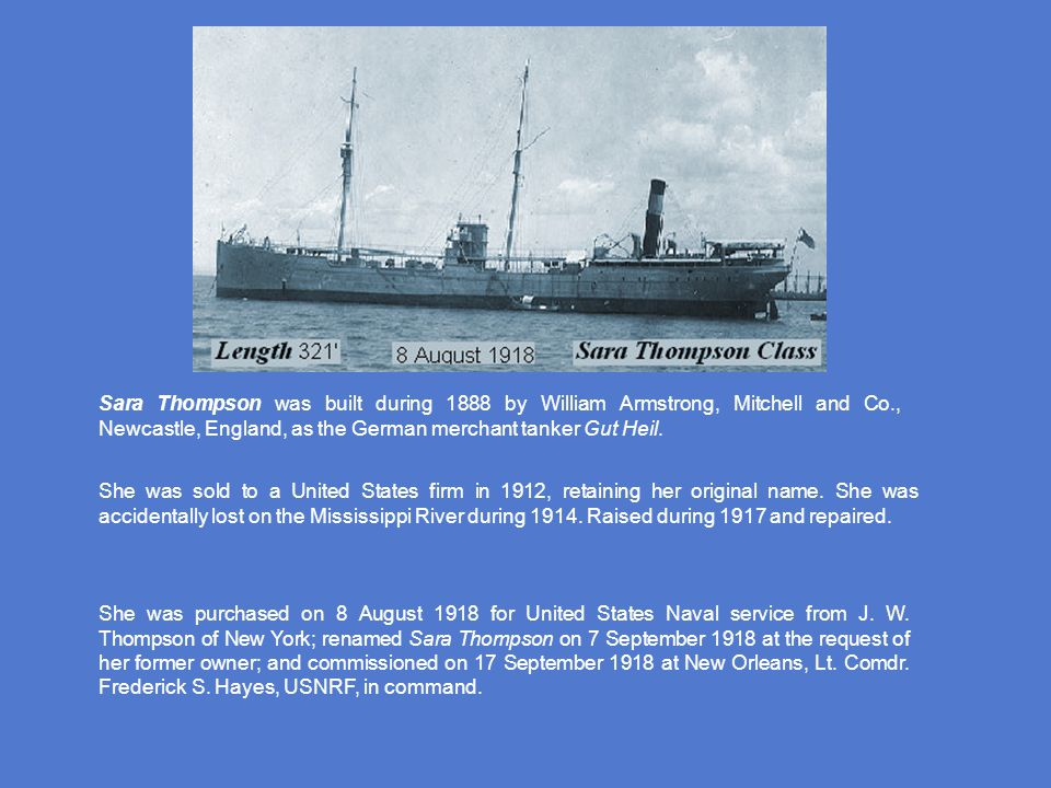 Maumee was the first surface ship in the U.S.Navy to be powered by diesel engines.