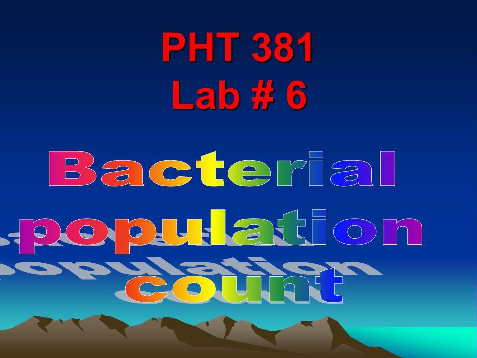 PHT 381 Lab # 6