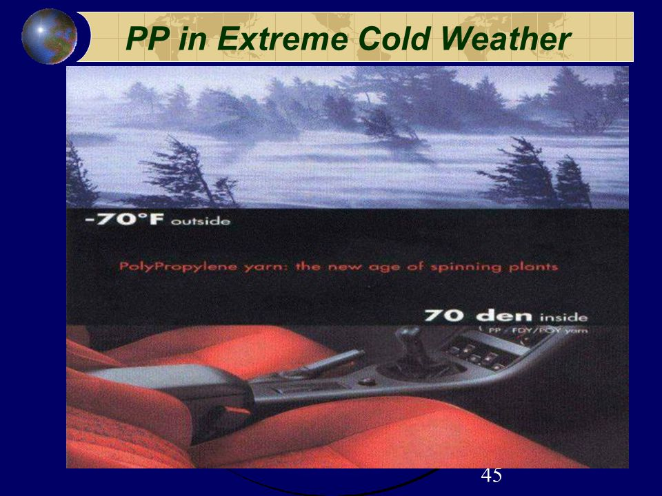 45 PP in Extreme Cold Weather