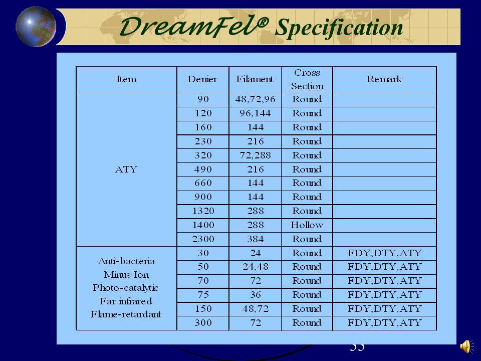 55 DreamFel® Specification