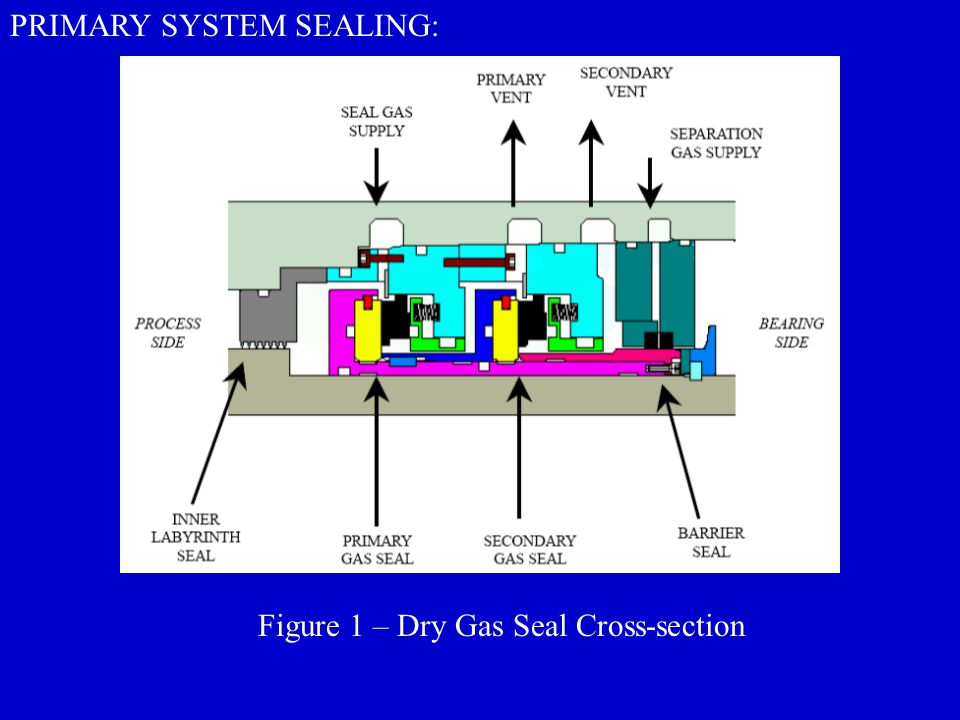 Figure 1 – Dry Gas Seal Cross-section PRIMARY SYSTEM SEALING: