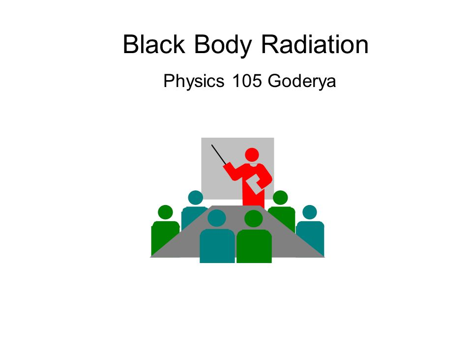 Black Body Radiation Physics 105 Goderya