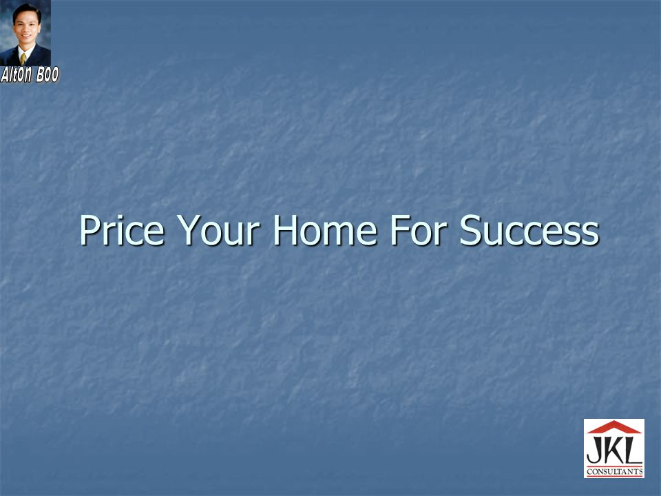 Price Your Home For Success
