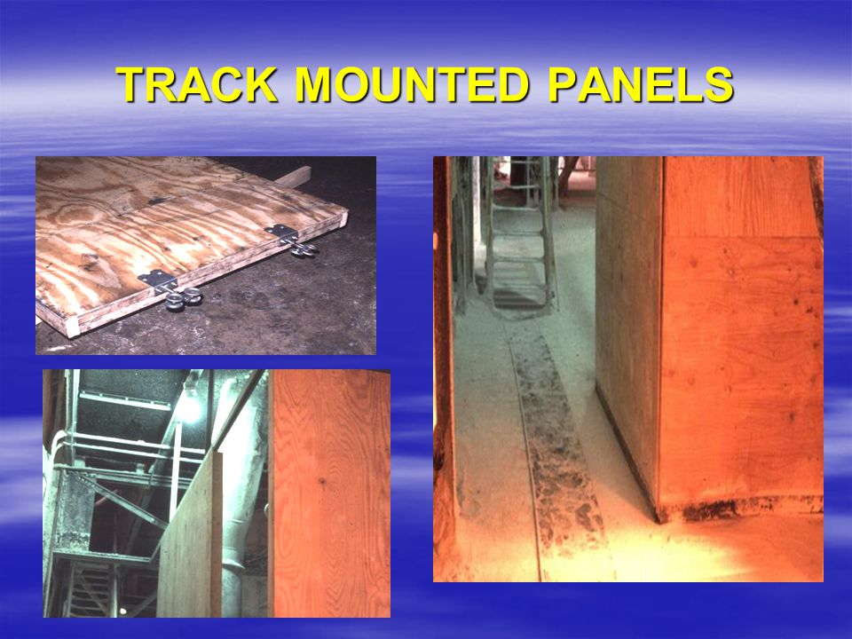 TRACK MOUNTED PANELS