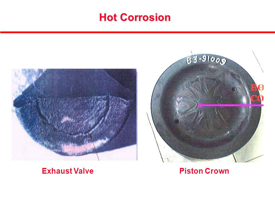 14 Hot Corrosion Exhaust ValvePiston Crown