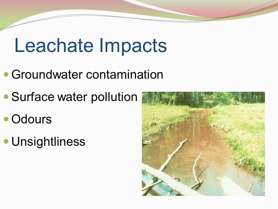 Leachate Generation Precipitation Surface water Run-on Water balance