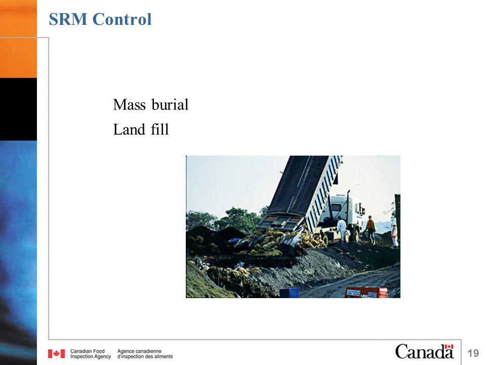 19 SRM Control Mass burial Land fill