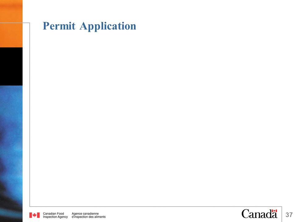 37 Permit Application