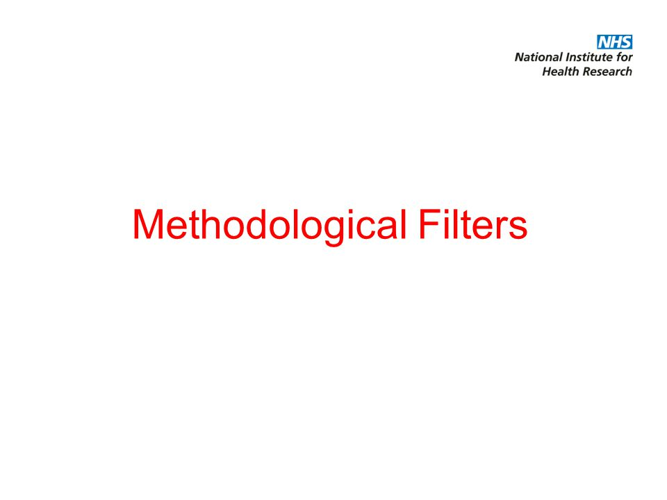 Methodological Filters