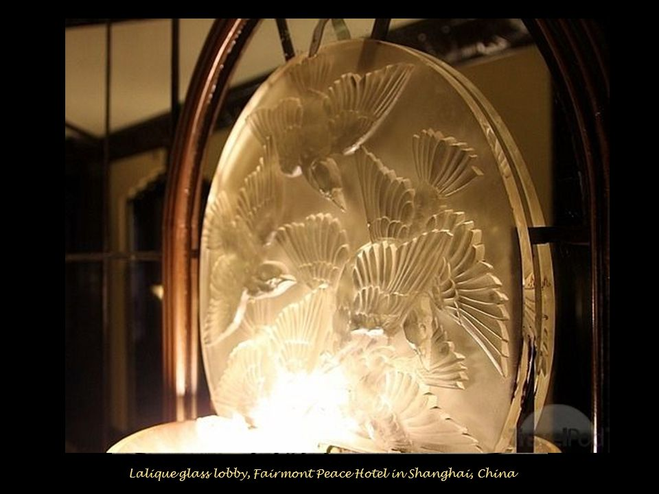 1932: Lalique designed the doors in the imperial palace of Prince Asaka, a Japanese collector of Art Deco pieces.