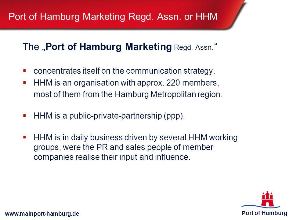 Port of Hamburg www.mainport-hamburg.de Port of Hamburg Marketing Regd.