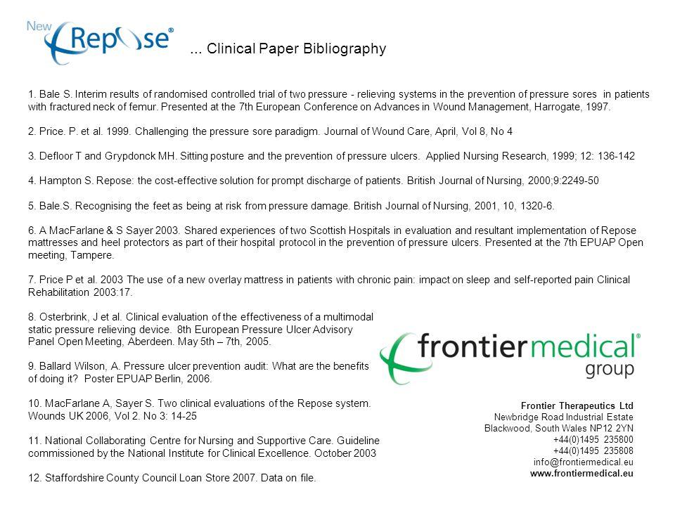 Frontier Therapeutics Ltd Newbridge Road Industrial Estate Blackwood, South Wales NP12 2YN +44(0)1495 235800 +44(0)1495 235808 info@frontiermedical.eu www.frontiermedical.eu 1.