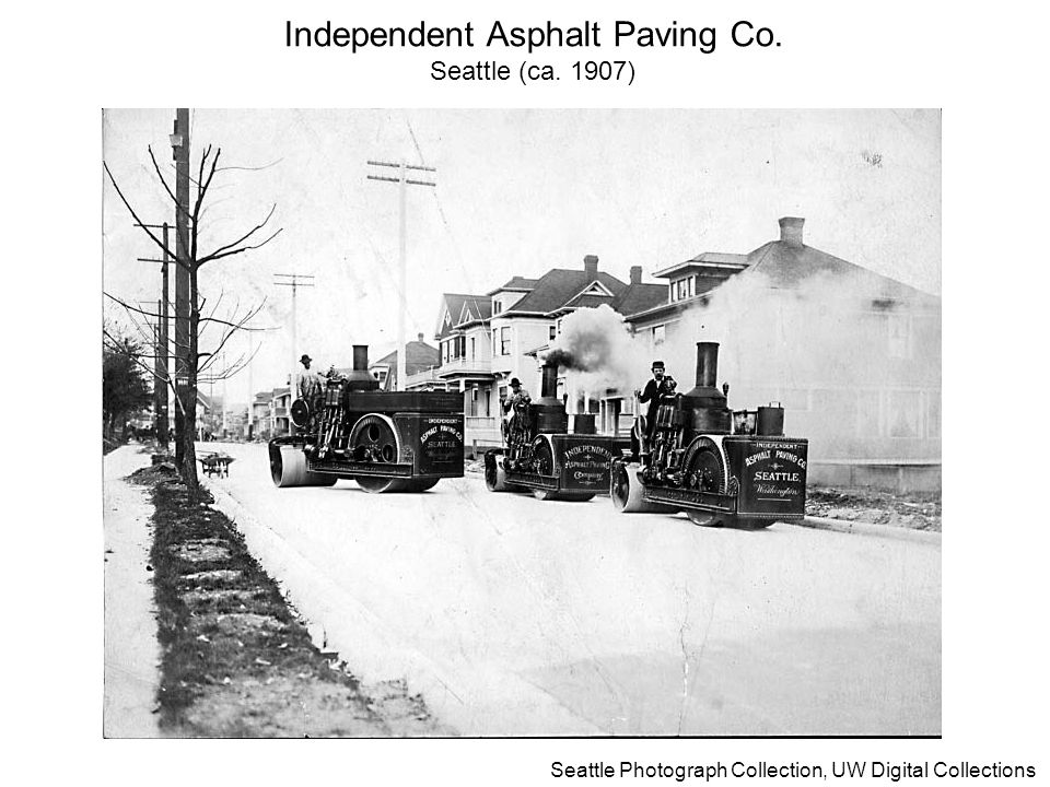 27 Seattle Photograph Collection, UW Digital Collections Independent Asphalt Paving Co. Seattle (ca. 1907)