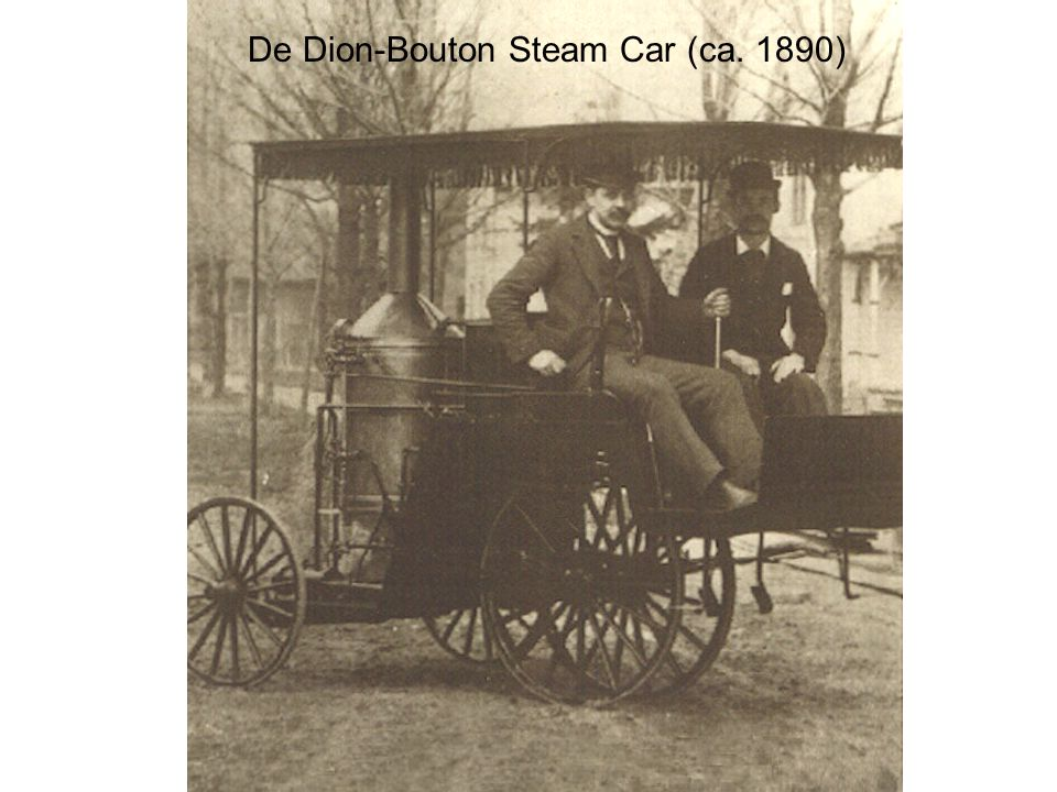 De Dion-Bouton Steam Car (ca. 1890)