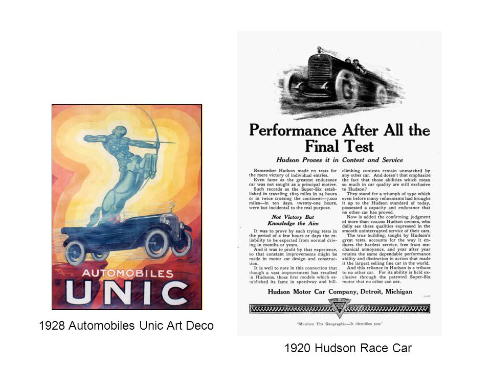 1920 Hudson Race Car 1928 Automobiles Unic Art Deco