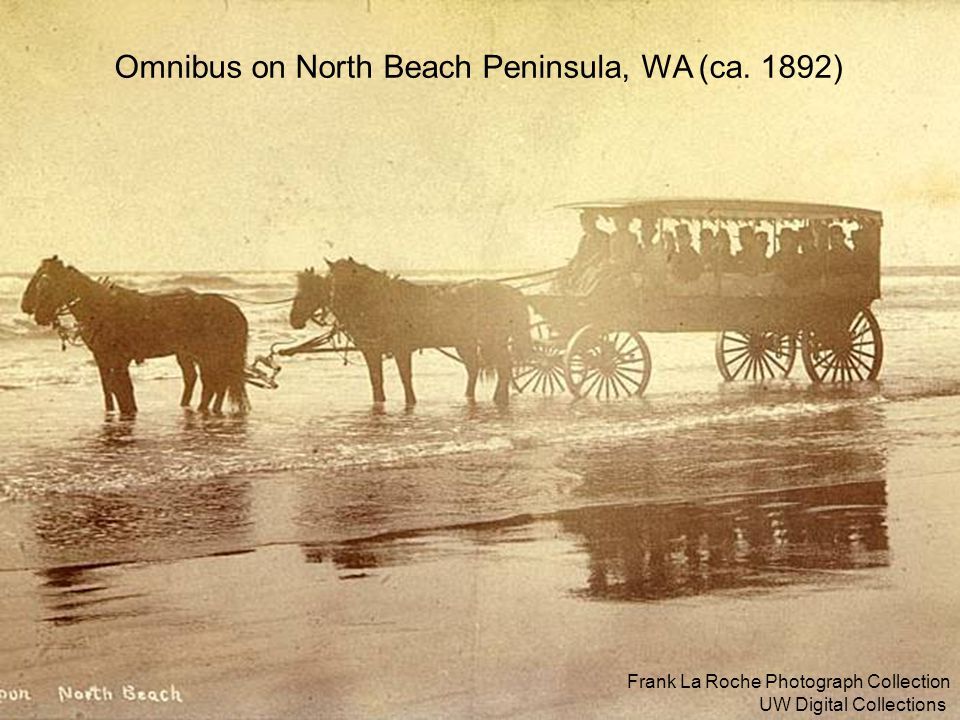 9 Frank La Roche Photograph Collection UW Digital Collections Omnibus on North Beach Peninsula, WA (ca. 1892)