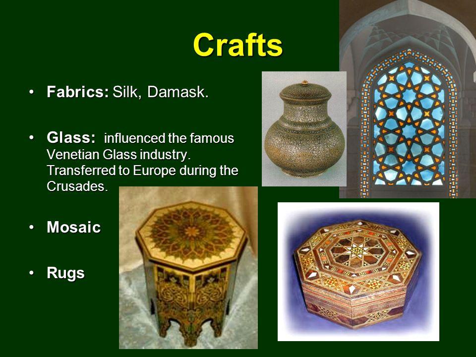 Crafts Fabrics: Silk, Damask.Fabrics: Silk, Damask.