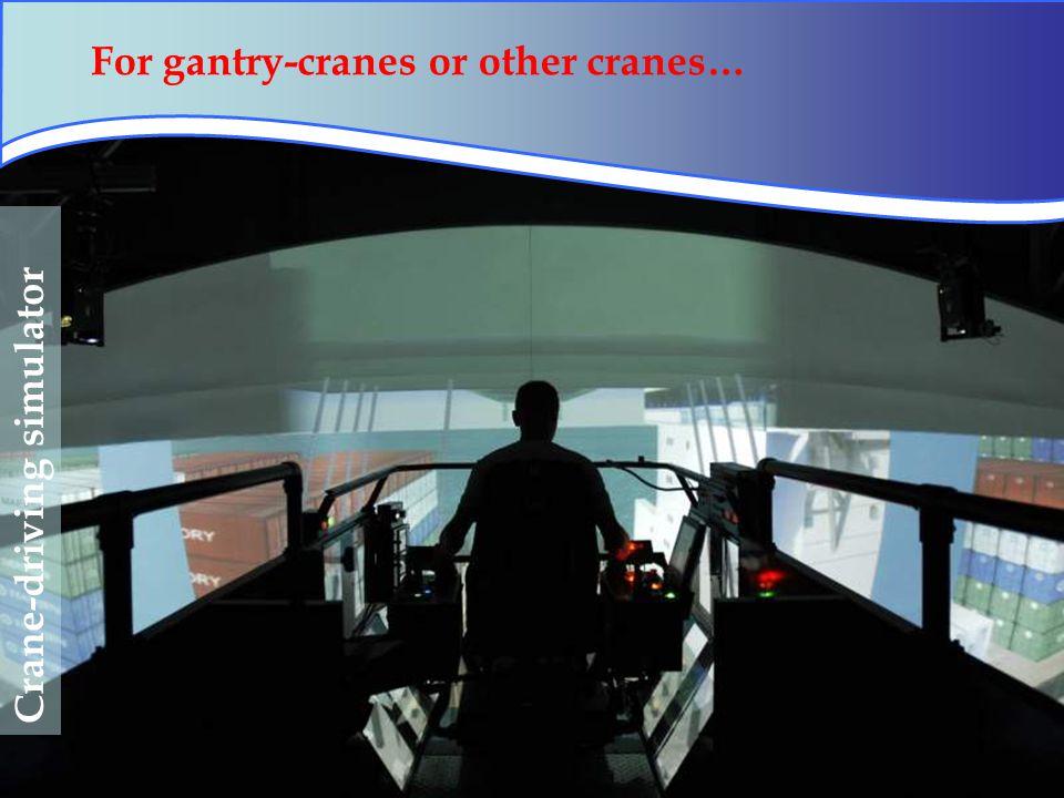 55 Crane-driving simulator For gantry-cranes or other cranes…