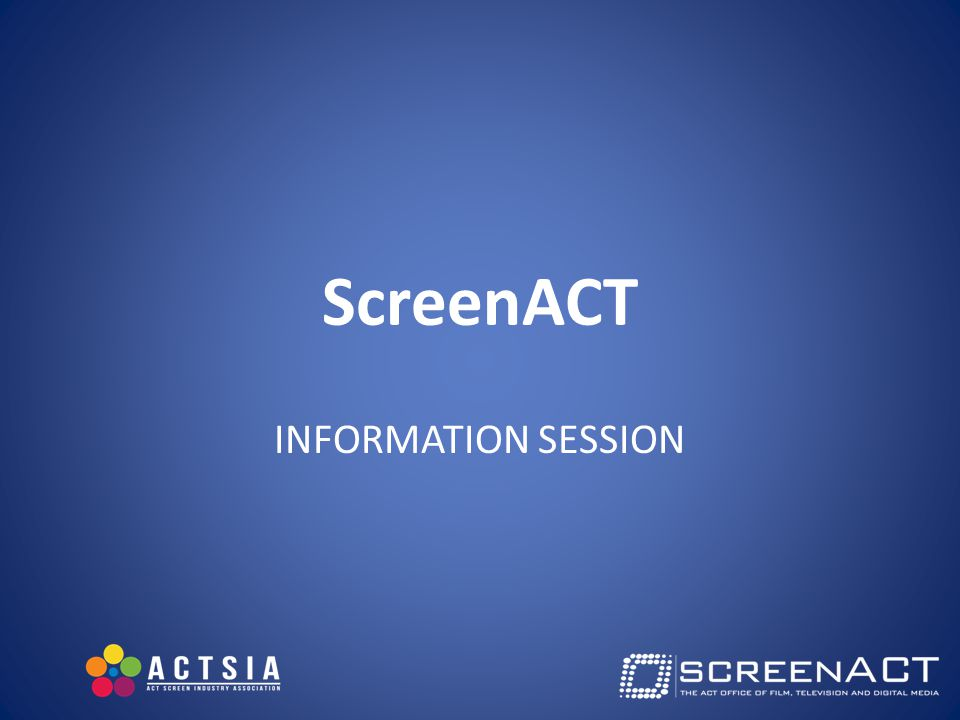 On the Agenda ACT Screen Development Fund Cannes 2015 Screen Industry Pod