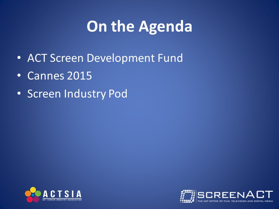 Screen Industry Pod Output: writers and producers who understand the industry plus a well developed, audience/market focused project: – Minimum first draft polished script – Solid Budget, finance and marketing plan Over 18 months Bringing together writers and producers and developing in parallel - at the same time 3 phases: Early, Mid and Late Development