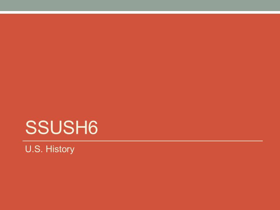 SSUSH6 U.S. History