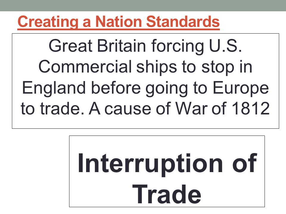 Creating a Nation Standards Great Britain forcing U.S.
