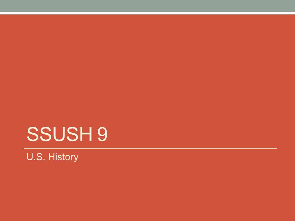 SSUSH 9 U.S. History