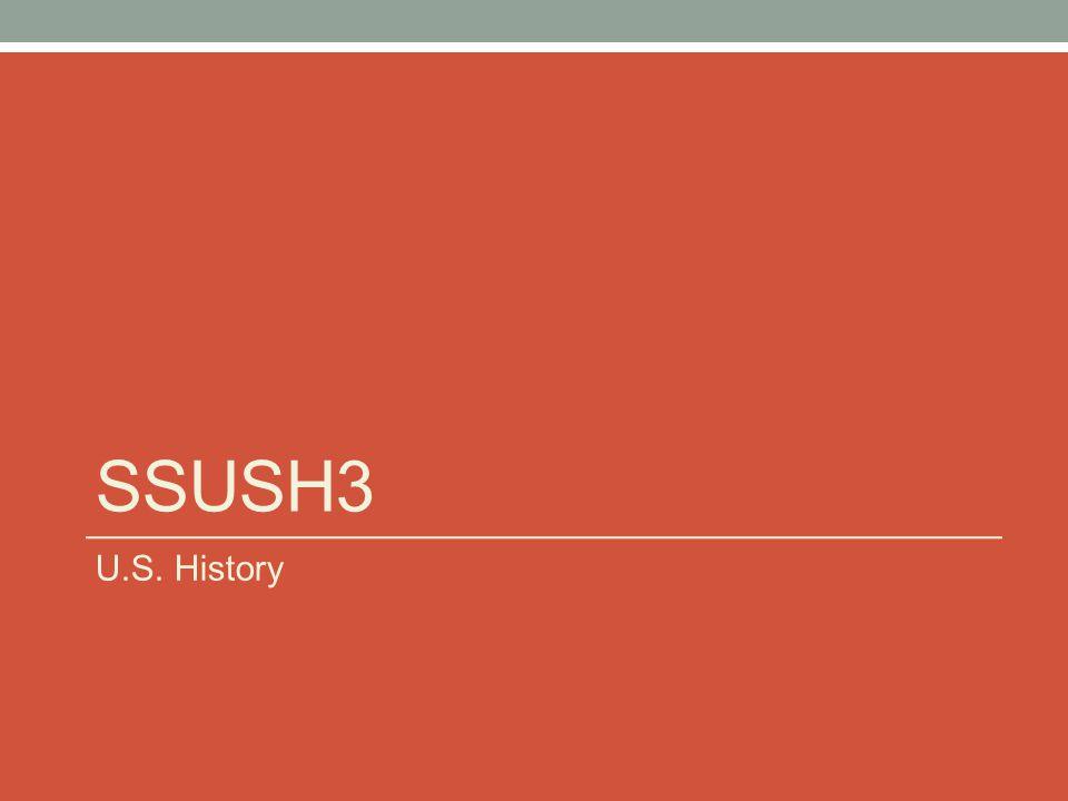 SSUSH3 U.S. History