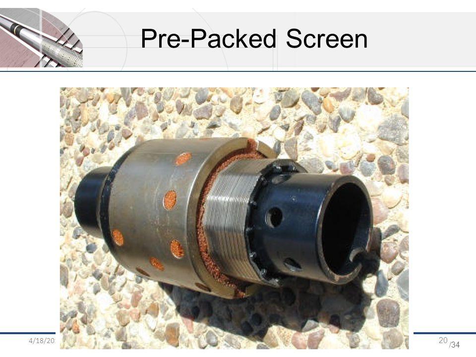 /34 4/18/2015HPOGC ENG DEP20 Pre-Packed Screen