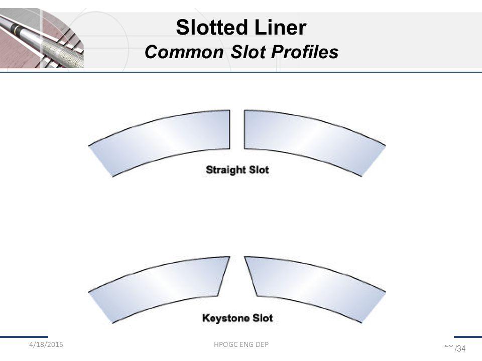 /34 4/18/2015HPOGC ENG DEP26 Slotted Liner Common Slot Profiles