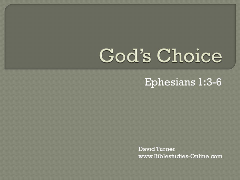 Ephesians 1:3-6 David Turner www.Biblestudies-Online.com