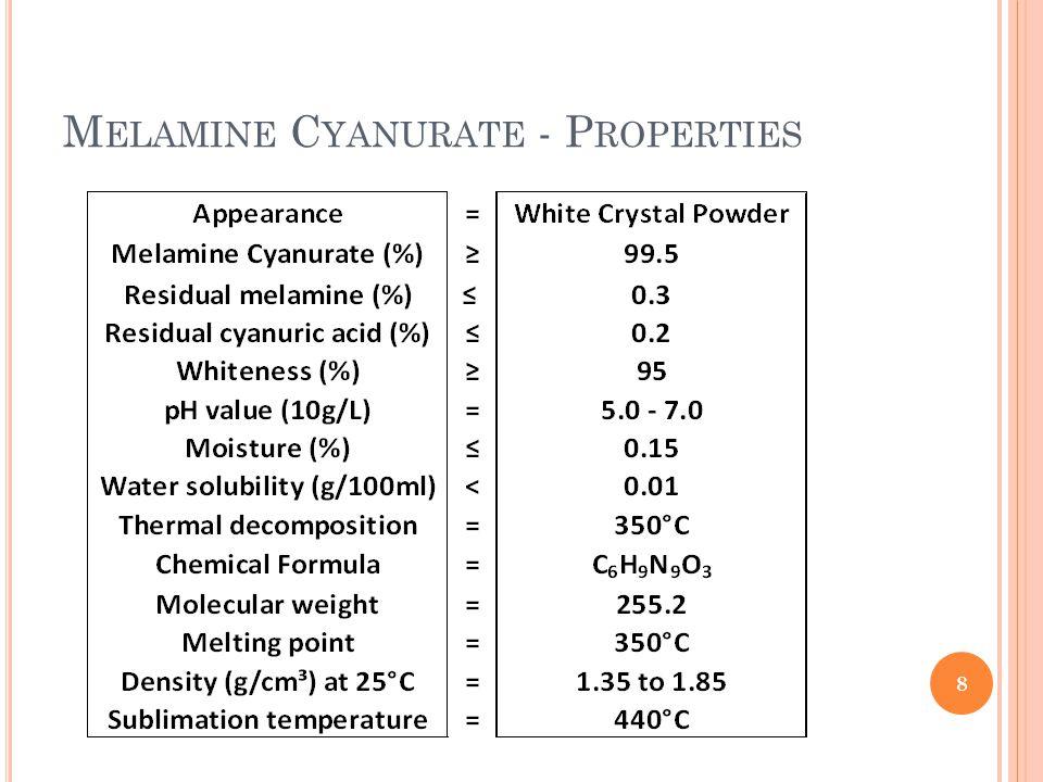 M ELAMINE C YANURATE - P ROPERTIES 8