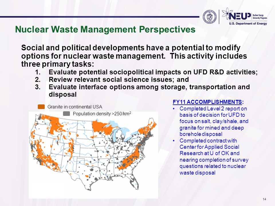 Social and political developments have a potential to modify options for nuclear waste management.