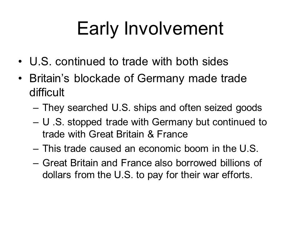 Early Involvement U.S.