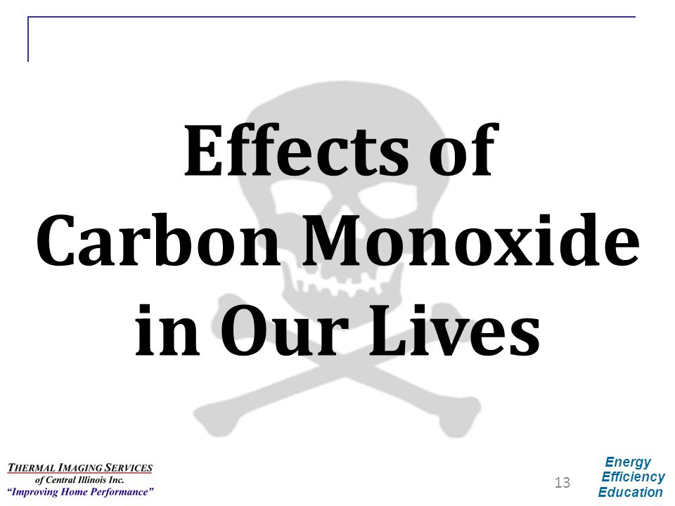 Energy Efficiency Education Effects of Carbon Monoxide in Our Lives 13