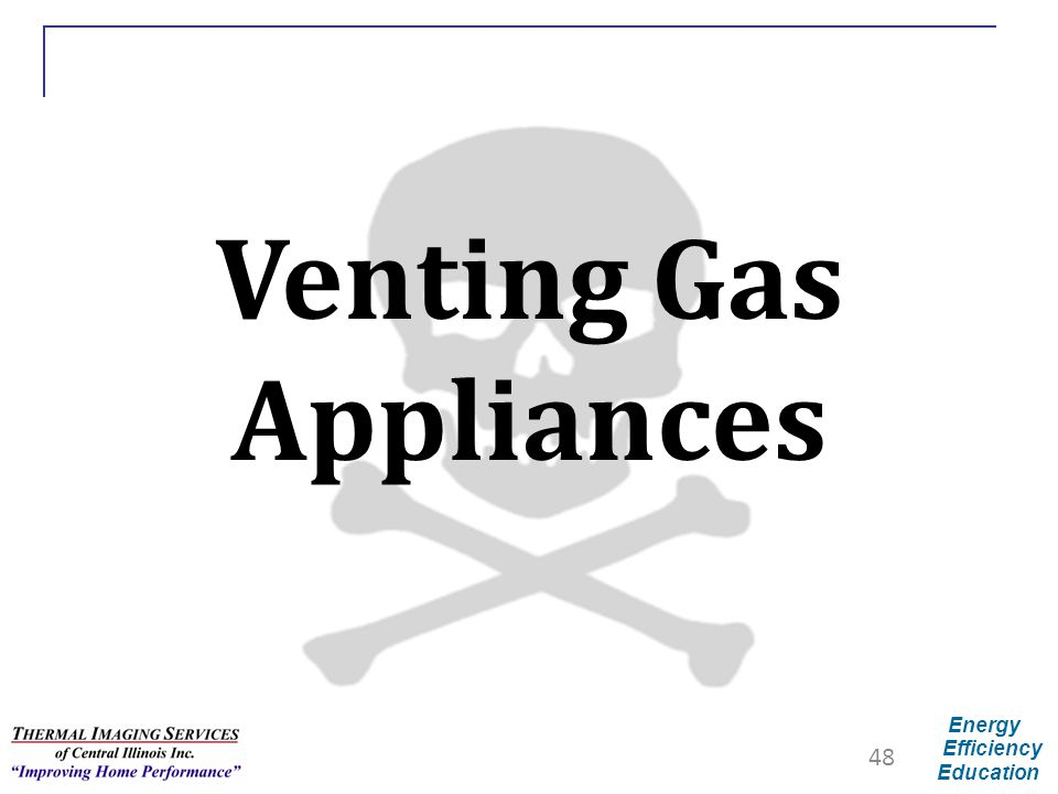 Energy Efficiency Education Venting Gas Appliances 48