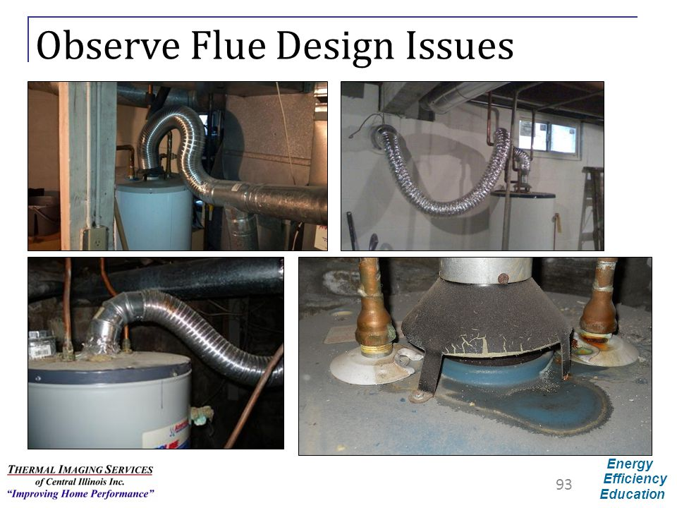 Energy Efficiency Education Observe Flue Design Issues 93