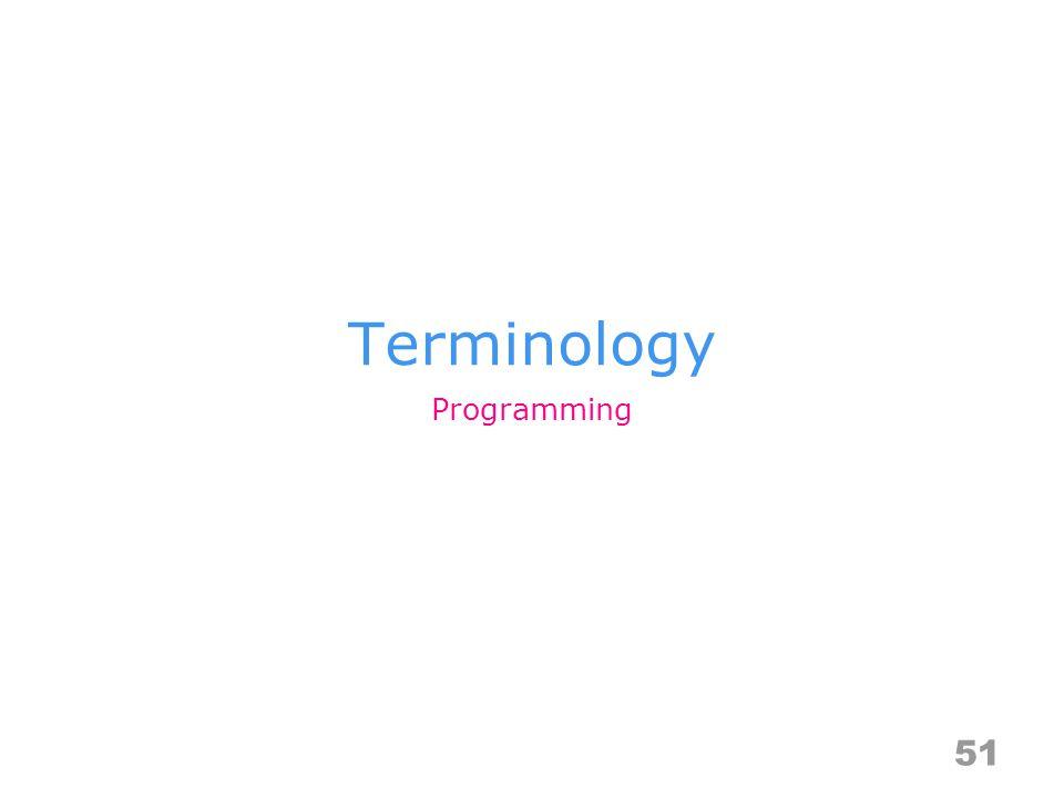 Terminology 51 Programming