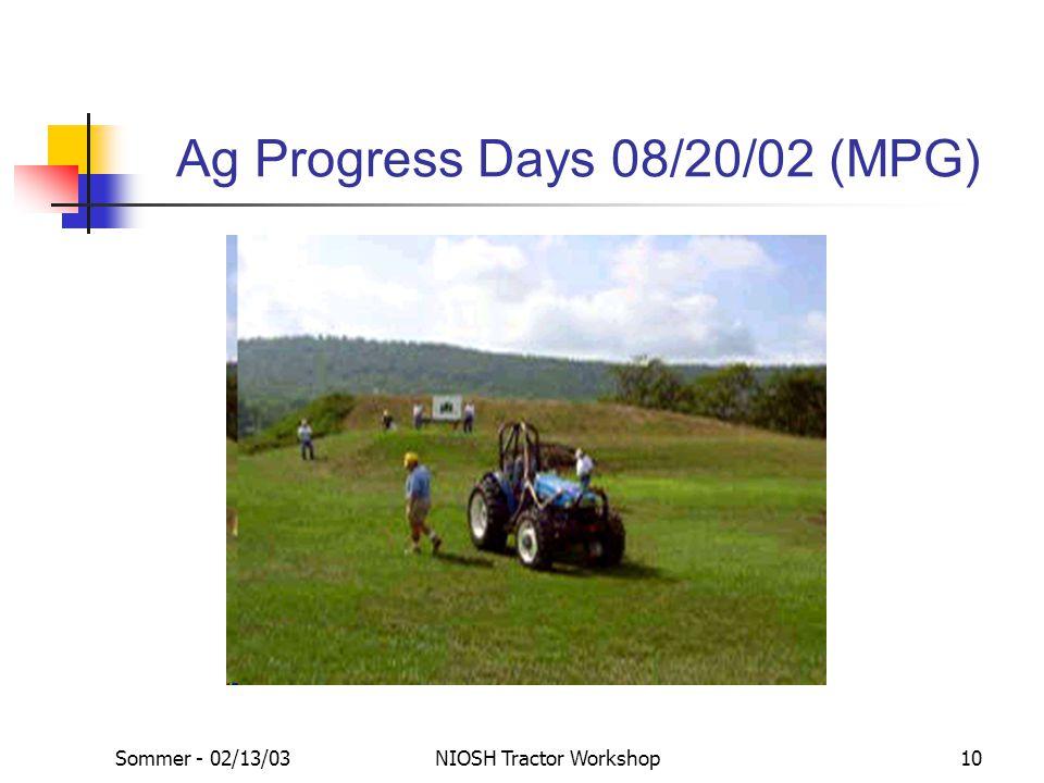 Sommer - 02/13/03NIOSH Tractor Workshop10 Ag Progress Days 08/20/02 (MPG)