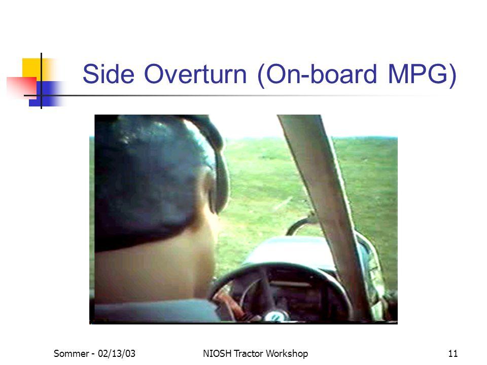 Sommer - 02/13/03NIOSH Tractor Workshop11 Side Overturn (On-board MPG)