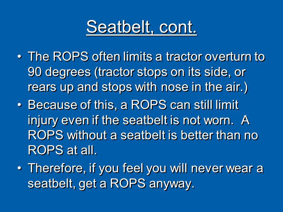 Seatbelt, cont.