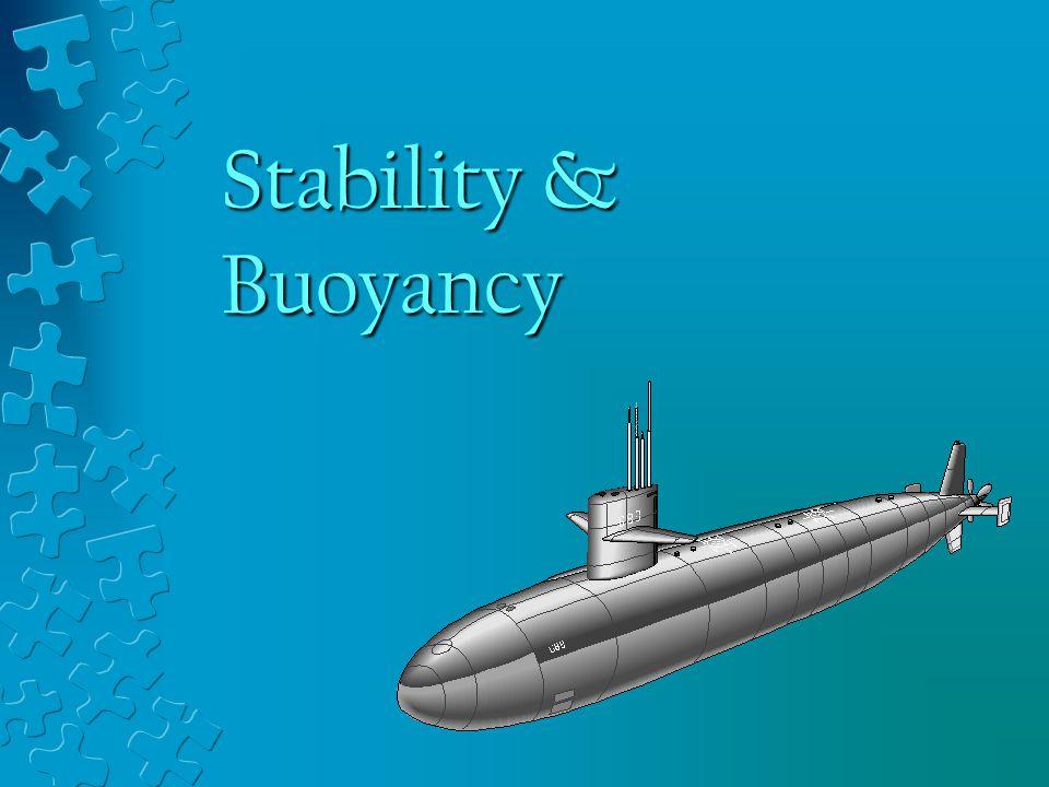 Stability & Buoyancy