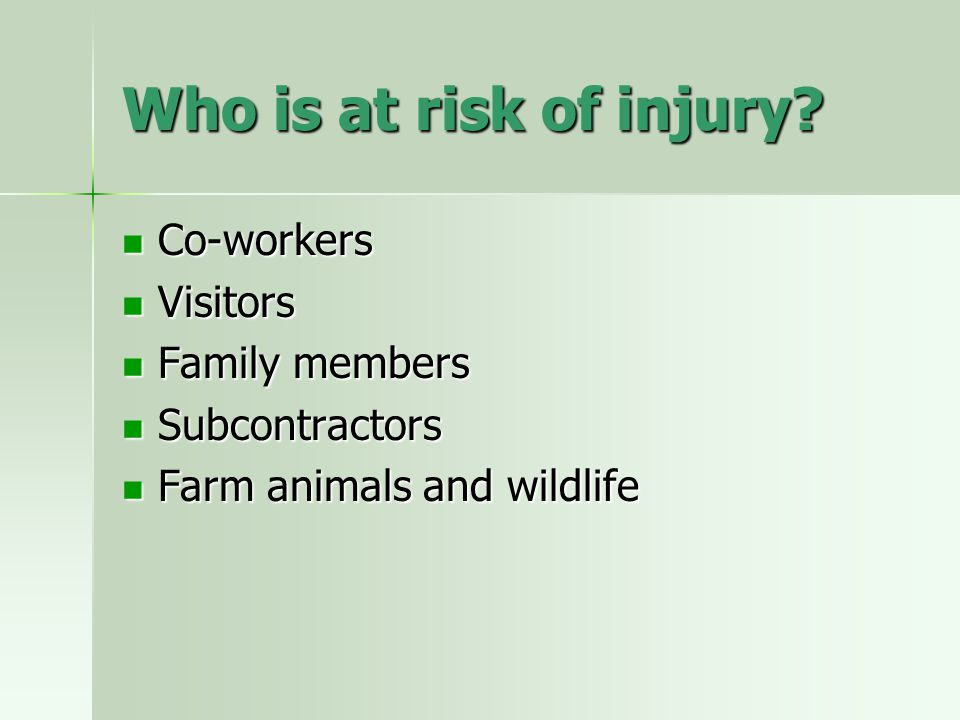 What are the dangers.