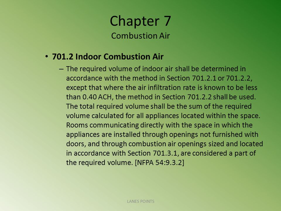 Chapter 7 Combustion Air 701.11 Dampers Prohibited.