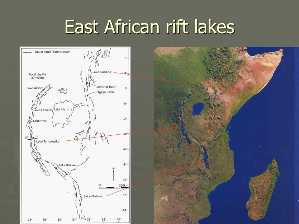 East African rift lakes